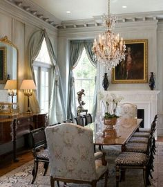 Beautiful Dining Room, LOVE The Molding And The Way The Space Feels MRK