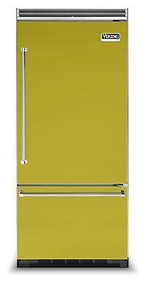 "36"" Quiet Cool™ Bottom-Mount Refrigerator/Freezer - VCBB - Viking Range Corporation--Wasabi"