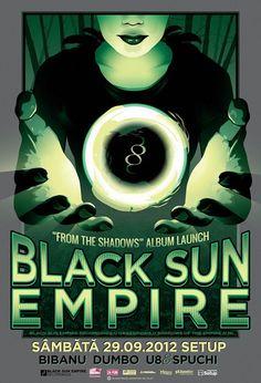 Black Sun Empire From The Shadows album launch poster - Timisoara, Romania
