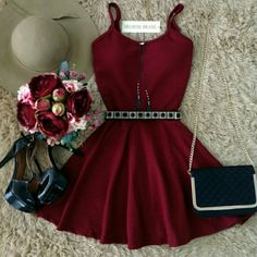 There is 0 tip to buy dress, burgundy, maroon/burgundy, red dress. Help by posting a tip if you know where to get one of these clothes. Hoco Dresses, Homecoming Dresses, Pretty Dresses, Beautiful Dresses, Dress Outfits, Casual Dresses, Prom, Teen Fashion Outfits, Stylish Outfits