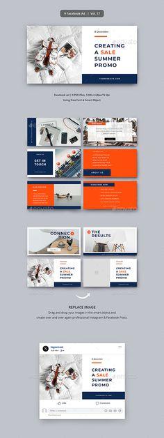Facebook Ad Template, Facebook Banner, Social Media Template, Social Media Design, Linkedin Advertising, Facebook Cover Design, Web Banner Design, Ads, Web Layout