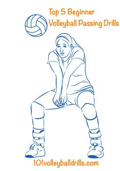 These beginner volleyball passing drills will set the foundation for players to become effective passers and benefit beginner volleyball players and advanced players by working on volleyball passing basics.  Use these top 5 beginner volleyball passing drills to improve player's performance and create a team full of accurate passers. #volleyballdrills #volleyballpassing #volleyball