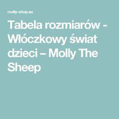 Tabela rozmiarów - Włóczkowy świat dzieci – Molly The Sheep