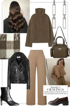 Sunday's Cravings: Cocoa and Khaki Winter Fashion Outfits, Look Fashion, Autumn Winter Fashion, Winter Outfits, Fashion Ring, Men Fashion, Sunday Outfits, Mode Outfits, Simple Outfits