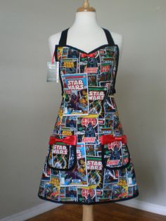 Star Wars  comic book Apron Limited Quantity by HauteMessThreads,