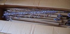 Vintage Silver Aluminum Christmas Tree BRANCHES Only Lot of 46