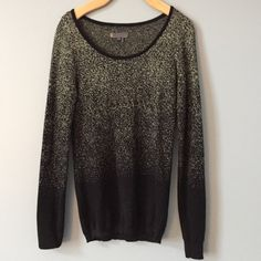 Black and gold sweater. Beautiful black sweater with gold threading. Buffalo Sweaters Crew & Scoop Necks