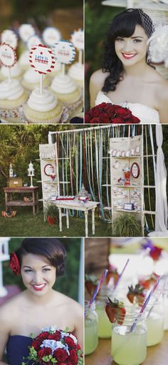 Fourth of July Photo Shoot by La Belle Fleur Wedding Designs & Eents