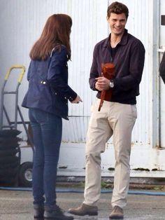 #FSOG Jamie & Dakota on Fifty Shades of Grey Set, Oct14th