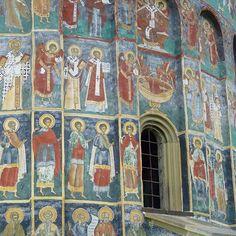 Sucevita painted monastery, Bucovina, Romania viajarporquesim.blogs.sapo.pt #sucevitamonastery #bucovina #romania #nofilter Vacation Ideas, Sims, My Photos, Instagram Posts, Painting, Art, Romania, Art Background, Mantle