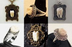 Human Teeth Jewelry | human tooth jewelry by Loved to Death - etsy.com/shop/lovedtodeath