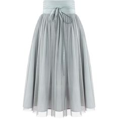 SheIn(sheinside) Grey High Waist Pleated Mesh Skirt (€15) ❤ liked on Polyvore featuring skirts, bottoms, sheinside, gonne, grey, high waisted pleated skirt, long skirts, high waisted pleated maxi skirt, high waisted maxi skirt and high-waisted skirts