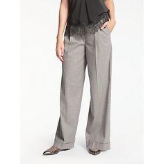 Buy Camel Modern Rarity Flannel Wide Leg Trousers from our Women's Trousers & Leggings range at John Lewis & Partners. Women's Trousers, Wide Leg Trousers, Trousers Women, Rarity, Wool Blend, Camel, Flannel, Feminine, Sweatpants