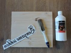 A nice DIY for text on wood. Cool text signs for your interior with thoughtful spells or fun texts. Homemade Gifts, Diy Gifts, Diy And Crafts, Arts And Crafts, Foto Transfer, Diy Accessoires, Pallet Painting, Diy Letters, Diy Projects To Try