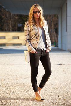 Les Attitudes - Boss Orange jacket and Chanel espadrilles