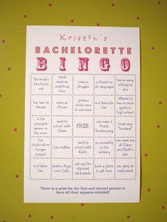 #bingo #bachelorette #party #inspiration