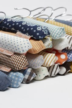 Dress up the closet with fabric scraps