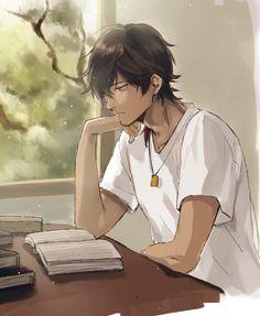 Ray, Max's older brother in the waste land Manga Anime, Anime Oc, Manga Boy, Fanarts Anime, Dark Anime Guys, Cool Anime Guys, Handsome Anime Guys, Cute Characters, Anime Characters