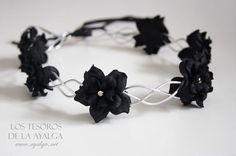 corona gotico floreale corona cerchietto fiore di Ayalga su Etsy