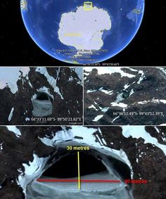 The two known entrances to Inner Earth (The South Pole and North Pole) of course there are multiple entrances (some being in Africa, Germany and possibly, New Mexico.