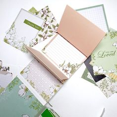 Video Blog Tutorial #16 – Mini-Album mit dem Kartensortiment Magnolienweg | TEIL 1 – Creative Ju Mini Albums, Videos, Stampin Up, Stationery, Creative, Blog, Scrapbooking, Espresso, 3d