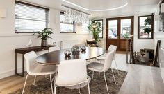 Room with a view: The owner can watch the world go by from their spot on the Thames. Prospective buyers can have their craft designed and ta...
