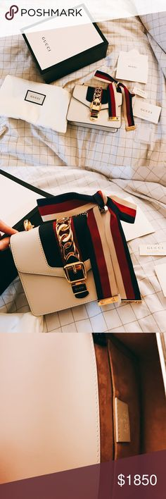 Authentic Gucci Mini Sylvie Chain Bag Only worn once. In perfect condition. Comes with dust bag,cards,box and copy of receipt. Accept offers. Gucci Bags Mini Bags