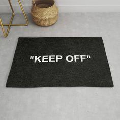 Keep Off Rug by ayeyokp Black Rug, White Rug, Furniture Decor, Modern Furniture, Hypebeast Sneakers, Ikea Rug, Sneaker Bar, Room Goals, Bedroom Decor