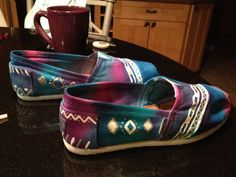 Custom Tie Dye and/or painted Toms Shoes by KelsoTiedyeToms, $30.00