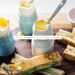 eggs and avocado grilled cheese soldiers recipe - www.iamafoodblog.com