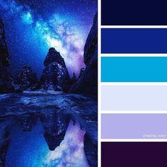 New Bedroom Blue Pillows Color Schemes 40 Ideas Bedroom Color Schemes, Colour Schemes, Color Combos, Blue Wall Colors, Paint Colors, Dark Colors, Color Blue, Dark Blue Walls, Colour Pallette