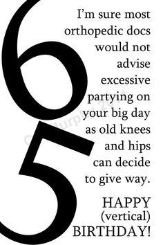 DOWNLOAD 65th Birthday Card Turning 65 Happy Friend Milestone Humor