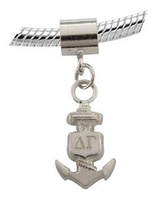 Does your Pandora bracelet have one of these yet? Nursing Pins, Pandora Bracelets, Pandora Charms, Delta Gamma, Sorority, Badge, Anchors, Sailor, Graduation
