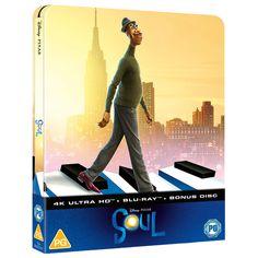 Soul - Zavvi Exclusive 4K Ultra HD Steelbook (Includes Blu-ray) Blu-ray - Zavvi UK 4k Uhd, Disney Pixar, I Movie