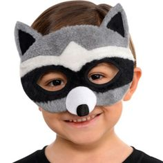 Unleash your mischievous side with a Plush Raccoon Mask! Plush Raccoon Mask features soft plush material with raccoon markings, ears and snout. Raccoon Mask, Animal Themed Birthday Party, Mask Images, Boys Long Hairstyles, Animal Masks, Cute Costumes, Mask Party, Party Stores, Halloween Masks