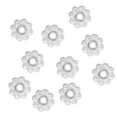 2mm thick Antiq //Bright SIlver Gold Bronze Tibetan Daisy spacer beads 100x 4mm