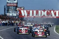 Circuit Zolder | #1 Niki Lauda [A] - Scuderia Ferrari - Ferrari 312T2 - Ferrari Tipo 015 3.0 Flat-12 / #2 Clay Regazzoni (CH) also on Ferrari, 1976 Belgium Grand Prix at Circuit Zolder.
