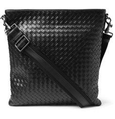 0d69d06b33c2 Bottega Veneta Intrecciato Leather Messenger Bag