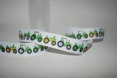 5 Yards 7/8 John Deere Tractor Grosgrain Ribbon For by Ribbonology, $7.00