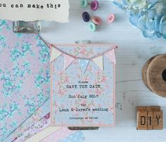 diy wedding bunting style invitations stationery favour box place card thank you order of service rsvp