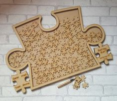 Wedding Puzzle Guest Book Jigsaw Drop Box by ForgetMeKnotWed