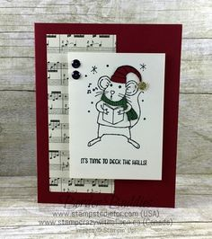 Border Buddies Merry Mice Stamp Set by Stampin Up Stampin Up Christmas, Christmas Items, Christmas 2016, Stamping Up Cards, Rubber Stamping, Beautiful Christmas Cards, Paper Cards, Xmas Cards, Christmas Inspiration