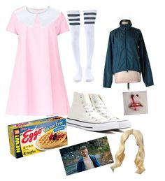 """Eleven (my Halloween costume)"" by shawnsgirl98 on Polyvore featuring Maiocci, Leg Avenue, Pearl Izumi and Converse"