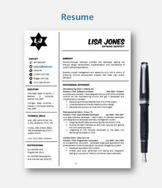 Resume Template With Photo  Professional Resume Design  Teacher
