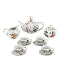 Take a look at this Alice in Wonderland Miniature Collector's Tea Set on zulily today!