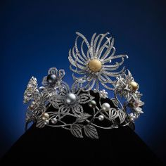 """Mikimoto: Pearl Crown """"Flowers of Dreams"""" Celebrates 120th Anniversary of Cultured Pearls."""
