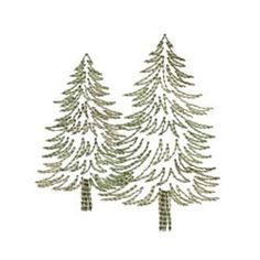 Needle Passion Embroidery Embroidery Design: Greenwork Pines 3.11 inches H x 2.95 inches W