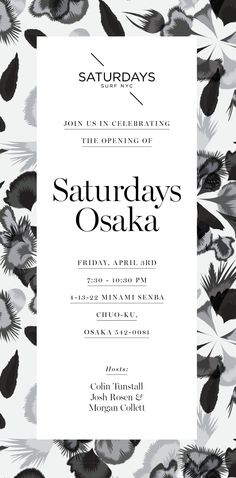 Blog | Saturdays NYC