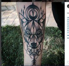 geometric wolf.