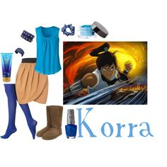 korra, created by cloudstorm101 on Polyvore